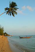 A traditional  Long tailed boat, Thailand off the shores of Ko Pangan