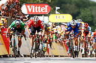Arrival sprint, Peter Sagan (SVK - Bora - Hansgrohe) - Andre Greipel (GER - Lotto Soudal) - Fernando Gaviria (COL - QuickStep - Floors) during the Tour de France 2018, Stage 4, Team Time Trial, La Baule - Sarzeau (195 km) on July 10th, 2018 - Photo Luca Bettini / BettiniPhoto / ProSportsImages / DPPI
