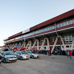 20110407: SLO, Ice Hockey - HK Acroni Jesenice vs HDD Tilia Olimpija in closed Arena Podmezakla