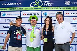 Janko Hrovat, Aleksander Javornik, Manja Dobrilovic and Dare Rupar at trophy ceremony during 3rd Stage of 26th Tour of Slovenia 2019 cycling race between Zalec and Idrija (169,8 km), on June 21, 2019 in Slovenia. Photo by Matic Klansek Velej / Sportida