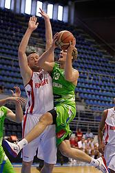 Zoran Dragic of Slovenia basketball national team in action against Hungary during Trofej Beograd tournament third place match at Pionir arena  in Belgrade, Serbia on August 9th 2012.Foto: Marko Metlas / MN Press / Sportida.com
