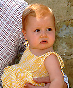 Photo session at the holiday house Roca Dei Draconie in the Italian Tavernelle. The Dutch Royal family is on summer holiday  close to florence.<br /> <br /> Fotosessie bij het vakantiehuis Roca Dei Draconie in het Italiaanse Tavernelle. Het gezin is op zomervakantie in het vakantieverblijf van de koninklijke familie nabij Florence. <br /> <br /> On the Photo / Op de foto:<br /> <br /> The daughter of Willem Alexander and Maxima, Princess Alexia<br /> <br /> De dochter van Maxima en Willem Alexander, Alexia