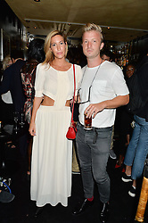 LAURA PRADELSKA and JOSH VARNEY at the launch of Blakes Below at Blakes Hotel, 33 Roland gardens, London SW7 on 14th September 2016.