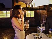 FRANCESCA CHILLEMI, The launch of the Peroni Nastro Azzurro Accademia del Film Wrap Party Tour. Brick Lane. 25 August 2010. -DO NOT ARCHIVE-© Copyright Photograph by Dafydd Jones. 248 Clapham Rd. London SW9 0PZ. Tel 0207 820 0771. www.dafjones.com.