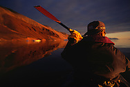 Kayak ecotourism, Quaanaaq, North West Greenland