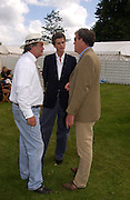 The Marquess of Blandford, Alexander Spencer-Churchill and Jeremy Clarkson, Cartier Style Et Luxe, Goodwood, 27 June 2004. SUPPLIED FOR ONE-TIME USE ONLY-DO NOT ARCHIVE. © Copyright Photograph by Dafydd Jones 66 Stockwell Park Rd. London SW9 0DA Tel 020 7733 0108 www.dafjones.com