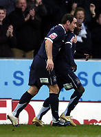 Photo: Olly Greenwood.<br />Southend United v West Bromwich Albion. Coca Cola Championship. 01/01/2007. Southend's  Jamal Campbnell-Ryce celebrates scoring his 2nd goal