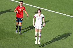 Spain's Patricia Guijarro (left) and USA's Rose Lavelle during the game