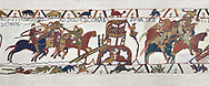 Bayeux Tapestry Scene 18 - Normans attack Dol and make the Duke of Brittany flee, BYX18