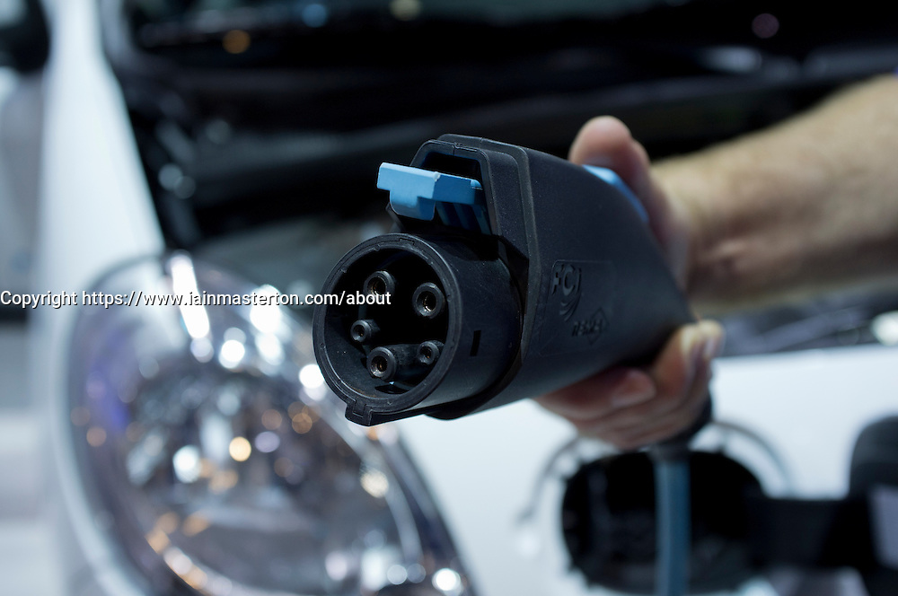 Plug-in electric charger for Renault Kangoo car at Frankfurt Motor Show or IAA 2011 in Germany