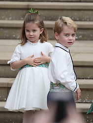 File photo dated 12/10/18 of Princess Charlotte and Prince George, part of a gaggle of royal youngsters who will be waiting to welcome the Duke and Duchess of Sussex's baby to their gang.