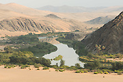 Kunene River and mountains, Hartmanns Valley, Northern Namibia, Southern Africa