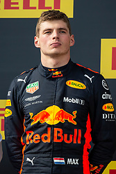 Max Verstappen from Holland (Aston Martin Red Bull racing) poses on the podium like 2nd classified at the F1 French Grand Prix, Le Castellet on June 24, 2018. Photo by Marco Piovanotto/ABACAPRESS.COM
