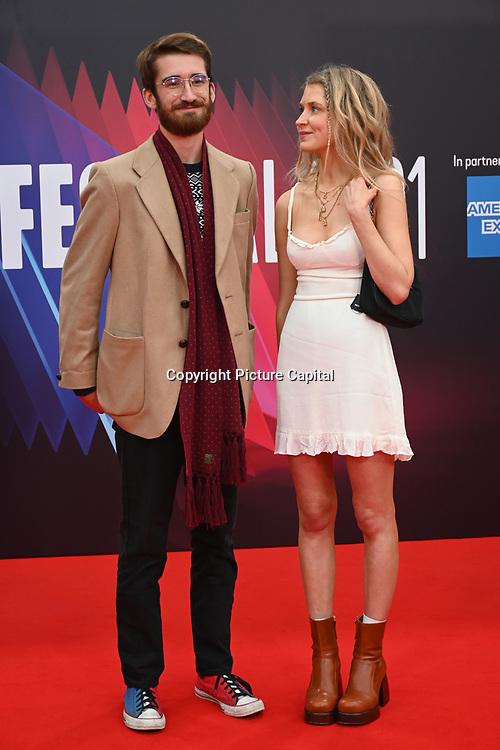 Olivia Frost arrives at The Souvenir Part II - BFI London Film Festival 2021 at Southbank Centre, Royal Festival Hall, London, 8 October 2021.