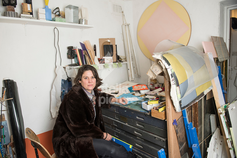 South African born artist HelenA Pritchard pictured in her south London studio.<br /> Picture by Daniel Hambury/@stellapicsltd 07813022858<br /> 09/03/2018