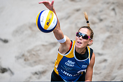 Viktoria Orsi Toth ITA in action during the last day of the beach volleyball event King of the Court at Jaarbeursplein on September 12, 2020 in Utrecht.