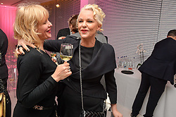 Left to right, guest who gets into parties using the name Amanda Eliasch meets the real AMANDA ELIASCH at the Liberatum 'Women In Creativity' Series: In Conversation With Courtney Love held at St.Martins, 45 St.Martin's Lane, London on 21st March 2016.