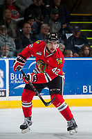 KELOWNA, CANADA - MAY 1: Layne Viveiros #42 of Portland Winterhawks makes a pass against the Kelowna Rockets on May 1, 2015 at Prospera Place in Kelowna, British Columbia, Canada.  (Photo by Marissa Baecker/Getty Images)  *** Local Caption *** Layne Viveiros;