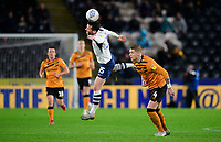 Preston North End's David Nugent vies for possession with Hull City's Jordy de Wijs<br /> <br /> Photographer Chris Vaughan/CameraSport<br /> <br /> The EFL Sky Bet Championship - Hull City v Preston North End - Wednesday 27th November 2019 - KCOM Stadium - Hull<br /> <br /> World Copyright © 2019 CameraSport. All rights reserved. 43 Linden Ave. Countesthorpe. Leicester. England. LE8 5PG - Tel: +44 (0) 116 277 4147 - admin@camerasport.com - www.camerasport.com