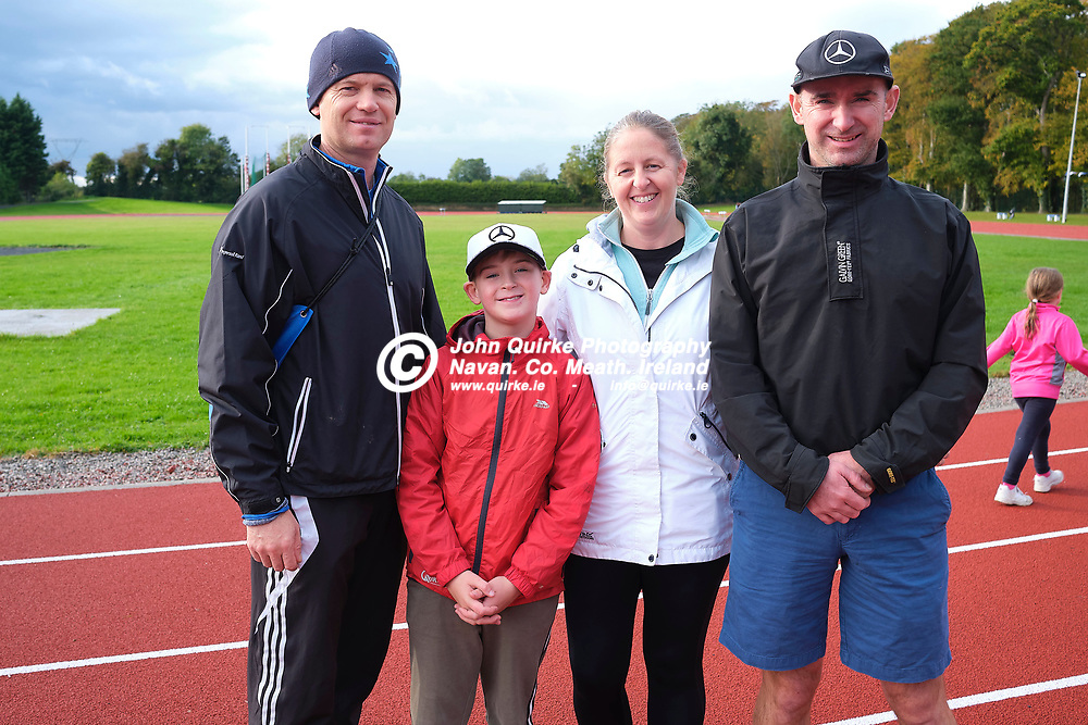 19/10/2019, Official opening of Dunboyne AC Track & facility<br /> Pictured at the opening were L-R, John O`Reilly, Calum Swindell Nolan, Maeve Swindell & Pat Nolan<br /> Photo: David Mullen / www.quirke.ie ©John Quirke Photography, Unit 17, Blackcastle Shopping Cte. Navan. Co. Meath. 046-9079044 / 087-2579454.<br /> ISO: 400; Shutter: 1/250; Aperture: 6.4; <br /> File Size: 55.2MB