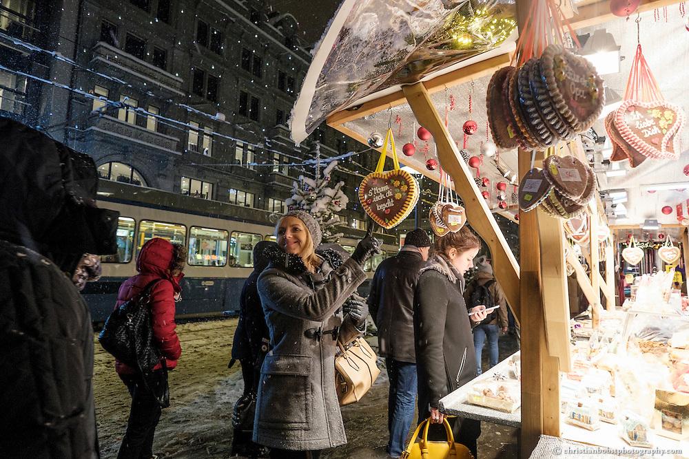 Christmas Market at Bahnhofstrasse, Zürich