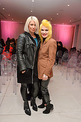 Left to right,DJ  AMAZONICA and PAM HOGG at the Liberatum 'Women In Creativity' Series: In Conversation With Courtney Love held at St.Martins, 45 St.Martin's Lane, London on 21st March 2016.
