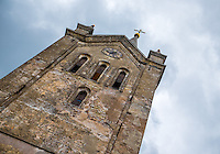 LATVIA, CESIS - CIRCA JUNE 2014: View of tower of the St. John's Church in Cesis in Latvia.
