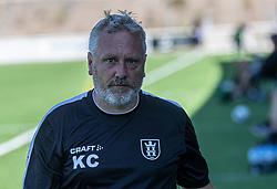 Holdleder Kasper Christiansen (FC Helsingør) under træningskampen mellem FC Helsingør og HIK den 1. august 2020 på Helsingør Ny Stadion (Foto: Claus Birch).