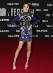 Ford v Ferrari Premiere atThe TCL Chinese Theater in Hollywood, California on 11/4/19. 04 Nov 2019 Pictured: Meredith Michelson. Photo credit: River / MEGA TheMegaAgency.com +1 888 505 6342