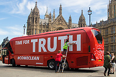 "2016-07-18 Greenpeace use Brexit Bus in ""Time For Truth"" protest"