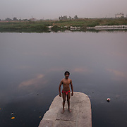 Kunal. A school for learning Kushti (an ancient sport similar to wrestling) nearby the Nigambodh Gath, on the banks of the polluted Yamuna.