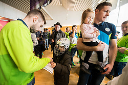 Matic Podlipnik and Jan Urbas during departure of Slovenia Olympic Team for PyeongChang 2018, on February 6, 2018 in Airport Joze Pucnik, Brnik, Slovenia. Photo by Morgan Kristan / Sportida