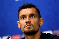 Croatia's Dejan Lovren during the press conference at the Luzhniki Stadium, Moscow.