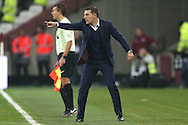Slaven Bilic, the West Ham United manager pointing from the touchline. Premier league match, West Ham Utd v Hull city at the London Stadium, Queen Elizabeth Olympic Park in London on Saturday 17th December 2016.<br /> pic by John Patrick Fletcher, Andrew Orchard sports photography.