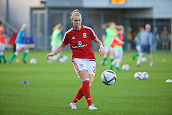 CARDIFF, WALES - Friday, August 19, 2016: Wales' Rhiannon Roberts warms up before the international friendly match against Republic of Ireland at Rodney Parade. (Pic by Laura Malkin/Propaganda)