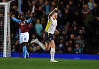 Michael Dawson Celebrates Scoring 1st goal<br /> Tottenham Hotspur 2009/10<br /> Aston Villa V Tottenham Hotspur (1-1) 28/11/09<br /> The Premier League<br /> Photo Robin Parker Fotosports International