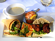 A sumptous lunch in the sunshine in Kerry, Ireland.<br /> Picture by Don MacMonagle -macmonagle.com