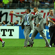 Turkish Coach Senol Gunes celebrates