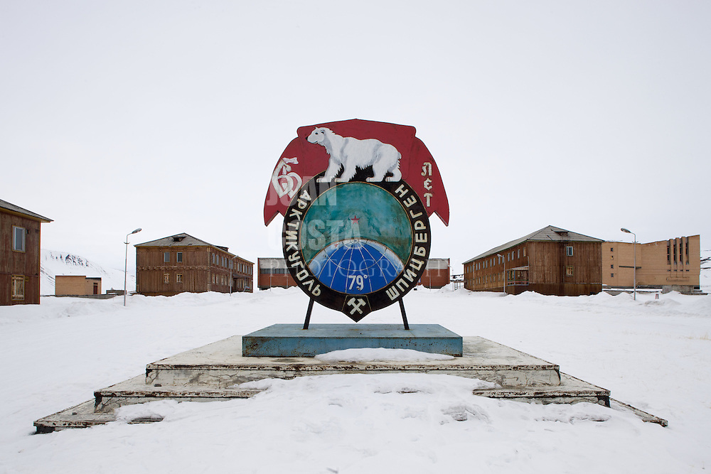 Ártico. Islas Svalbard.<br /> Antiguo pueblo minero abandonado de Pyramiden situado a 79º Norte en el Círculo Polar Ártico.<br /> <br /> © JOAN COSTA