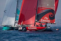 © Sander van der Borch. Alicante - Spain, May 12th 2009. AUDI MEDCUP in Marseille (12/17 May 2009). Practice Race. ETNZ and Quantum.