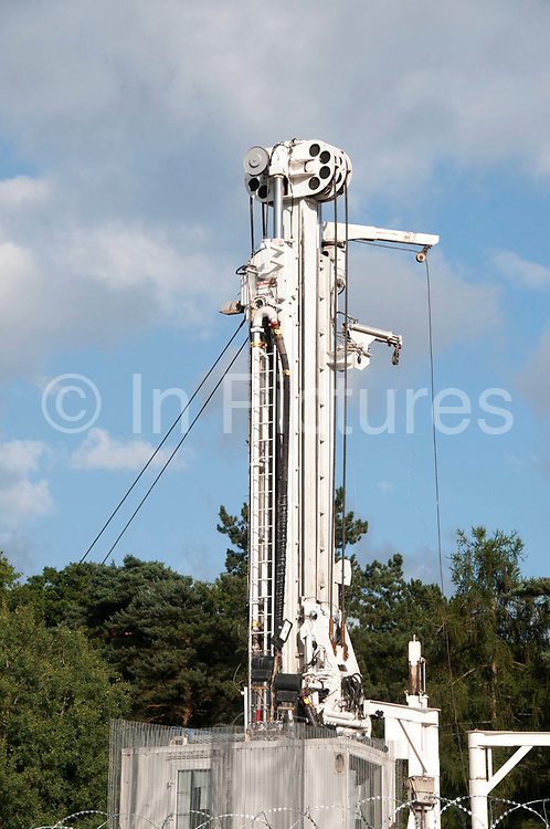 Balcombe, West Sussex. Site of Cuadrilla drilling - the rig.