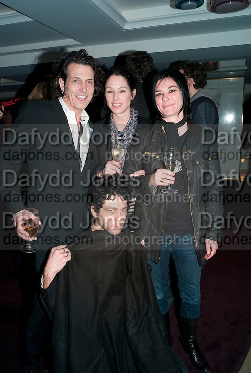 STEPHEN WEBSTER; TIM NOBLE; SUE WEBSTER, Polly Morgan 30th birthday. The Ivy Club. London. 20 January 2010