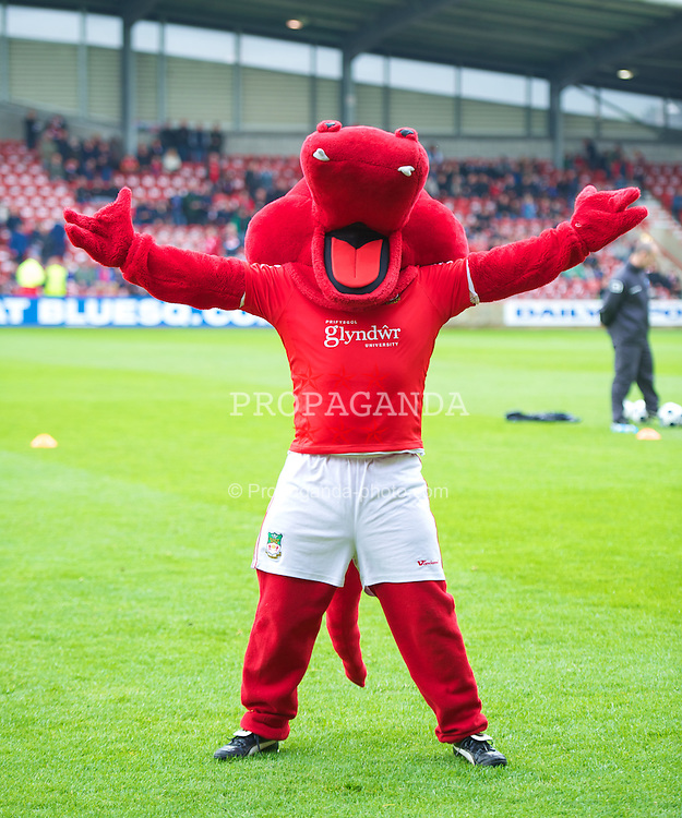 WREXHAM, WALES - Monday, May 7, 2012: Wrexham's mascot Wrex the Dragon during the Football Conference Premier Division Promotion Play-Off 2nd Leg against Luton Town at the Racecourse Ground. (Pic by David Rawcliffe/Propaganda)