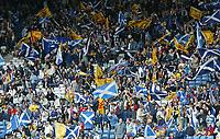 Fotball<br /> Foto: SBI/Digitalsport<br /> NORWAY ONLY<br /> <br /> Skottland v Norge<br /> 09.10.2004<br /> <br /> Scotland fans cheer on their team.