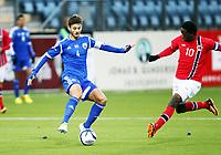 Fotball , 15. oktober 2013 , U21 , Euro Qual. , Norway - Israel<br /> Norge - Israel<br /> Mushagalusa Bakenga  , Norge<br /> Edward Gotlib, Israel
