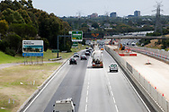 A digital road sign on the Monash Freeway tells Victorians to stay home on the first day of a five day snap lockdown in Victoria due to COVID-19 outbreak originating at The Holiday Inn. The entire state is returning to harsh stage-four lockdowns until Wednesday at 11.59pm as health authorities struggle to contain the Holiday Inn coronavirus outbreak.