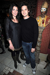 Actor WILL KEMP and his wife GABY at a party to celebrate the launch of Atelier-Mayer.com held at 83 Princedale Road, London W11 on 15th January 2009.