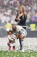 Real Madrid Carlos Henrique Casemiro with his girlfriend, Anna Marian Ortega and daughter during the celebration of the 13th UEFA Championship at Santiago Bernabeu Stadium in Madrid, June 04, 2017. Spain.<br /> (ALTERPHOTOS/BorjaB.Hojas)