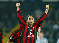 Fotball, 4. november 2003, Champions League,, Club Brugge ( Brügge )-Milan 0-1, Costacurta, Milan