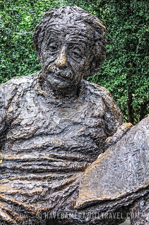 Albert Einstein Memorial bronze statue in Washington DC